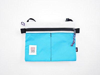 画像2: TOPO DESIGNS <Accessory Shoulder Bag/アクセサリーショルダーバッグ>ホワイト×ターコイズ