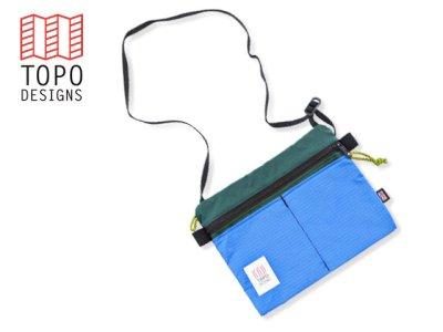 画像1: TOPO DESIGNS <Accessory Shoulder Bag/アクセサリーショルダーバッグ>フォレスト×ロイヤル