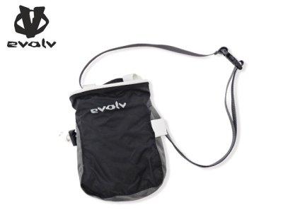 画像1: evolv<Super Light Chalk Bag/ スーパーライトチョークバッグ>ブラック